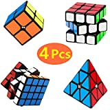 Yetech 4PCS Cubo Mágico Puzzle Pack - Speed Cubo Magic Puzzle Cube...