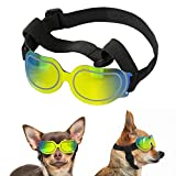 Lewondr Small Dog Sunglasses Reflective Lens Goggles UV Protection Eye Wear Protection with Adjustable Strap Waterproof Windproof Pet Sunglasses for Dogs Anti-Fog Dog Glasses, Colorful