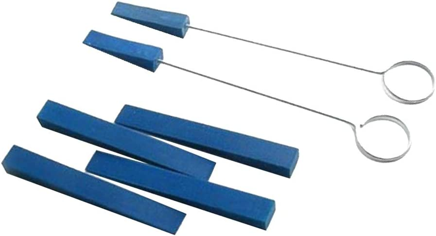 Blu 6 Pezzi Messa a Punto del Pianoforte Set di Strumenti Professionali Accessori Set Chiave Accordatore per Pianoforte Accordatura