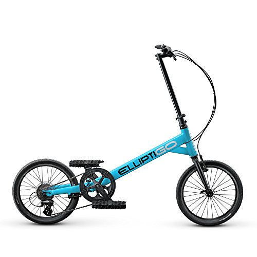 ElliptiGO SUB Outdoor Stand Up Bike and Best Hybrid Indoor Exercise Trainer, Blue