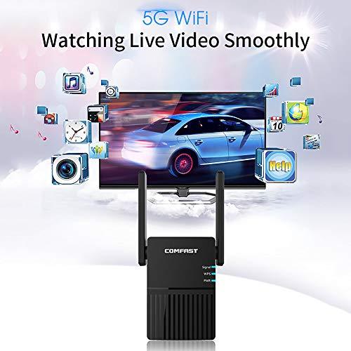 2020 Whole House 5G WiFi signaalversterker 1200 Mbps WiFi repeater AC1200 2 * 3dBi buitenantenne snel internet, eenvoudige instellingen, video's kijken, games spelen