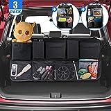 TECBOSS Car Boot Organiser, Car Trunk Organizer with 2 Car BackSeat Organizers, Tidy Storage Organiser Space Saving, Suitable for SUV (3 Pack)