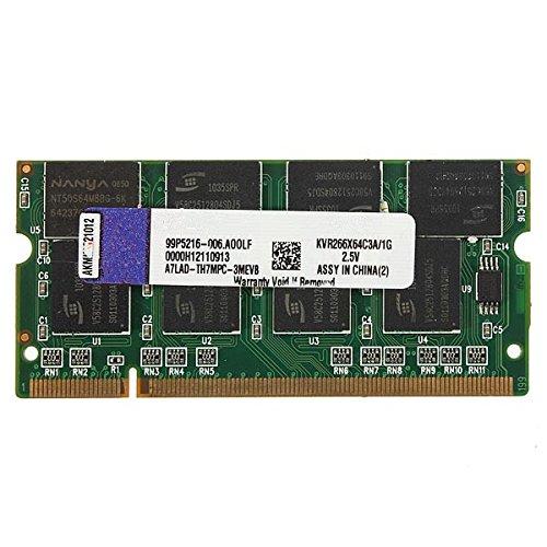 Tutoy 1 GB DDR-266 PC2100 Non-ECC SoDIMM Memoria RAM Kit 200-Pin para...