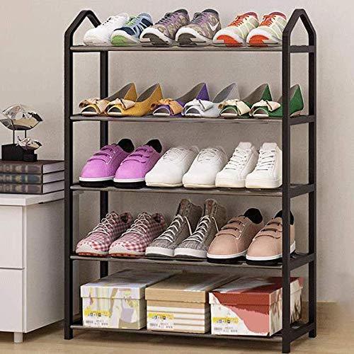 HLL Zapatero simple para el hogar, económico, para dormitorio femenino, a prueba de polvo, almacenamiento para zapatos, ahorra espacio, estante pequeño, multicolor opcional, color negro