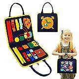 Kqpoinw Tablero ocupado, tablero de actividades, juguetes Montessori para niños...