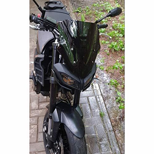 Parabrisas Delantero Motocicleta Fit For Yamaha MT09 FZ09 MT-09 FZ-09 FZ MT 09 2017 2018 2019 Motorycle Windshield Racing Windscreen Deflector De Viento Visor Pare-Brise (Color : Black)
