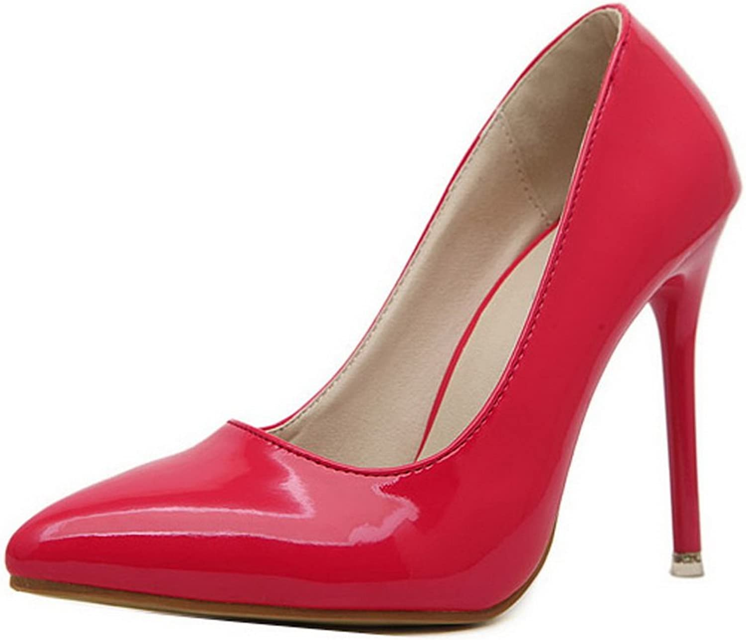 Ladola Womens Slip-Resistant Pointed-Toe Formal Water_Resistant Urethane Pumps shoes