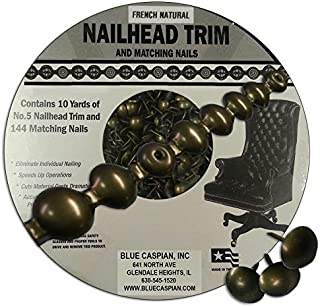 B.C. Upholstery Nailhead Trim with Matching Nails - French Natural - 30 ft (10 yds)