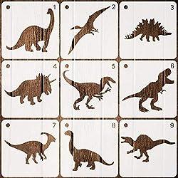 4. Coocamo Store Plastic Kids Dinosaur Stencils (9 pieces)
