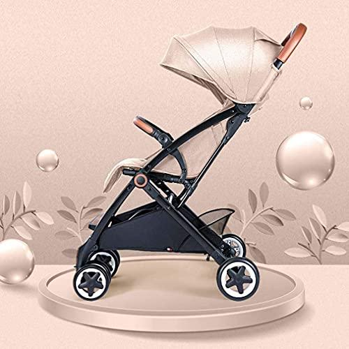 Cochecito de bebé liviano portátil Portátil Cochecito de carruaje portátil Cochecito de bebé ligero, paraguas para bebé de aluminio Cochecito de conveniencia, diseño plegable de viaje con toldo Oxford