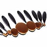 Icase4u: set de pinceles ovalados para maquillaje