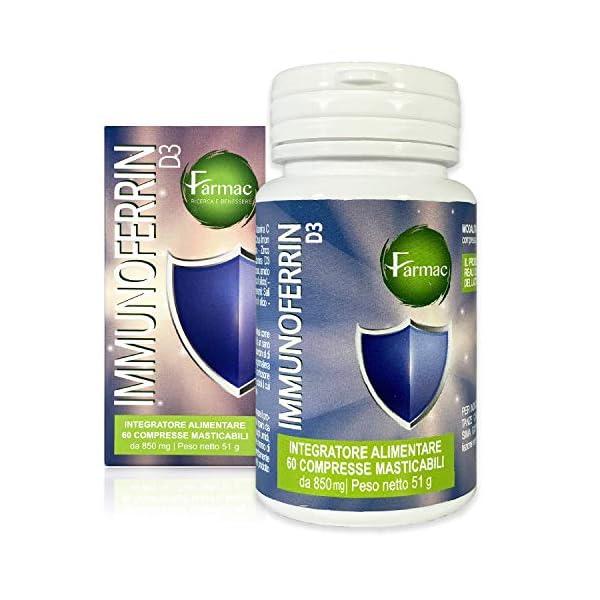 Integratore di lattoferrina con vitamina c, vitamina d e zinco- immunoferrin farmac B08DRFVPBD