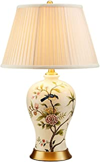 WYBFZTT-188 Accueil Lampe de Table Fleurs et Oiseaux en céramique Lampe de Table, Lampe Salle d'étude Chinoise, Bouteille ...