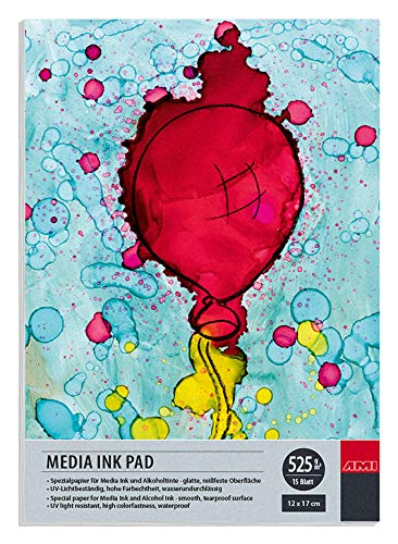 Artservice-Tube Alkohol-Ink Block Papier 525g (12x17 cm)