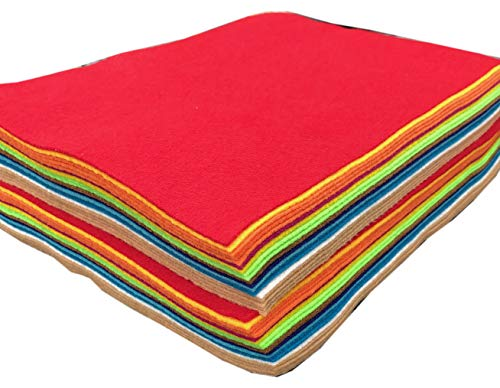 Acrylic Felt Red Felt Sheets 9x12 Felt Sheets for Crafts, Nonwoven Fabric Sheets, Great Felt for Crafts, Patchwork Sewing, Costumes, Classrooms, Scouts, Parties- 6 PC Felt Sheets Red Felt Packs