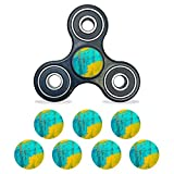 MightySkins Vinyl Decal Skin Compatible with Fidget Spinner Center Cap – Acrylic Blue | Protective Sticker Wrap for Your Fidget Toy Bearing Cap | Easy to Apply Cover