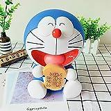 HIL Azul Doraemon Hucha Dibujos Animados Creatividad Encantador Cambiar Caja Irrompible Decoraciones para El Hogar Decoración De La Habitación De Los Niños Regalo De Cumpleaños,B