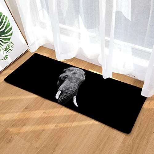 Radiancy Inc Slaapkamer Runner Mat Tapijt Zacht Flanel Creatief Zwart Olifant Wasbaar Niet Slip Gel Terug Vloerbedekking Tapijt
