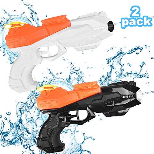 2er Wasserpistole,Wasserpistole Spielzeug für Kinder Erwachsene,Wasserpistole Spritzpistolen Set,Wasserpistole mit Großer Reichweite,Wasserpistole Spielzeug, Water Blaster, Wasserpistole für Strand