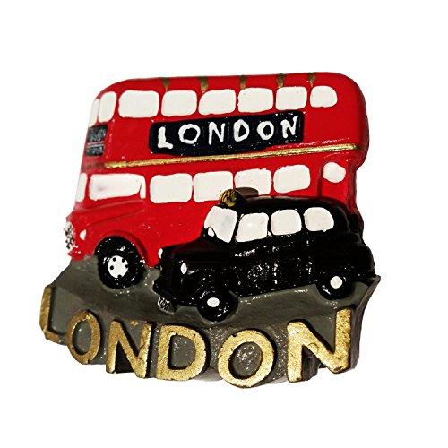 #1-Route Master da Bus, Taxi, Londra Taxi Cab Nero/Hackney-Magneti in poliresina, a forma di carrozza, da collezione, Souvenir/