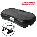 Clevr Upgraded Mini Crazy Fit Black Crazy Fit Whole Full Body Shape Exercise Machine,Vibration Plate,Fit Massage Workout Trainer, Max User Weight 330lbs, Upgrade 180 Speed Levels, Black