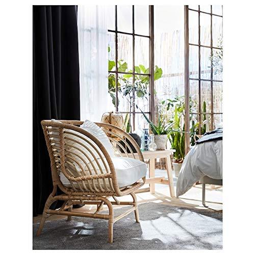 MSAMALL BUSKBO fotel, rattan, 42 x 72 x 63 cm, trwały i łatwy w pielęgnacji. Fotel rattanowy. Fotele i krzesła na kanapie i fotele. Meble przyjazne dla środowiska.