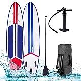 SUP Board Stand up Paddle Paddling Galaxy Blau 320x76x15cm aufblasbar Alu-Paddel Hochdruck-Pumpe Rucksack 120KG