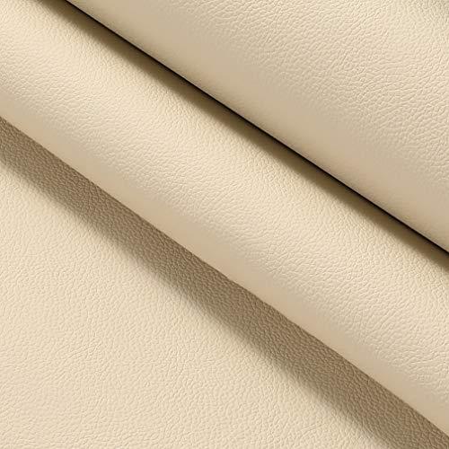KINLO 45x200cm pellicola in pelle PU autoadesiva similpelle pellicole decorative pellicole per pellicole tappezzerie in pelle sintetica riparazione per mobili armadi da cucina divano (beige)