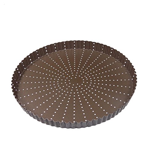 Gobel - 226345 - Moule A Tarte OU TOURTIERE PERFOREE Ronde CANNELLEE Fond Fixe REVETEMENT Anti Adherent 30 CM