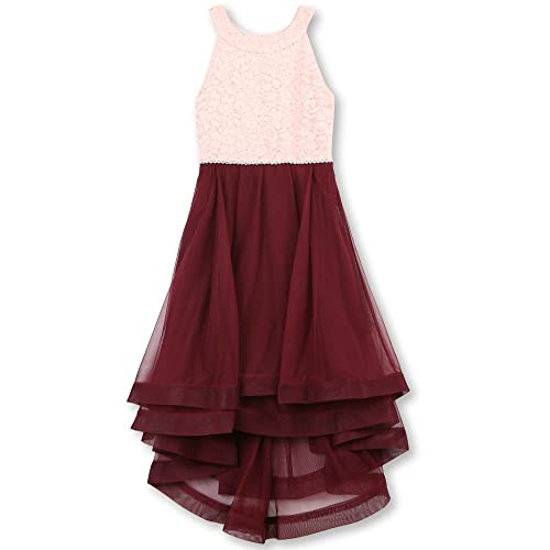 511536b3ef0e Speechless Girls' 7-16 Tween Sparkle Waist Party Dress with Wide Ribbon Hem