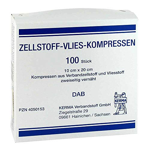 ZELLSTOFF VLIES KOMPRESSEN 10x20 cm unsteril 100 St
