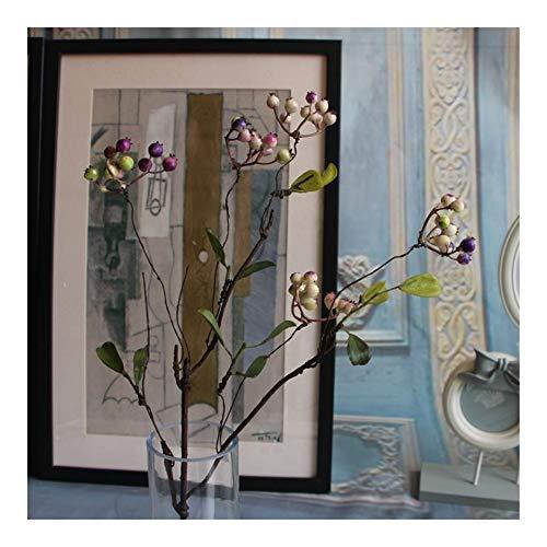 Roovtap Künstliche AST Beere Granatapfel-Frucht Blumen Home Office Tischdekoration Dried Flower (Color : Purple)