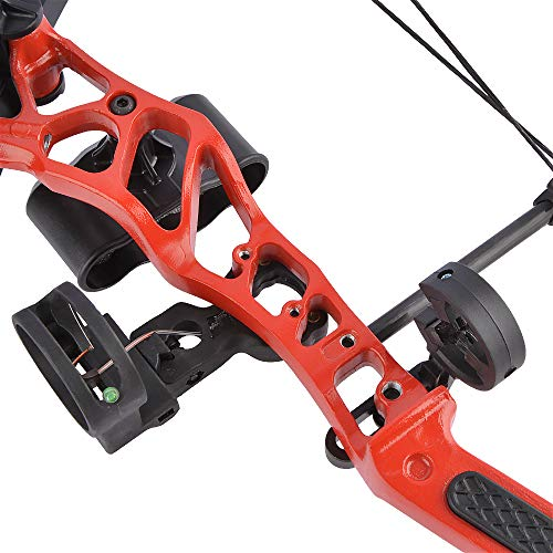 SHARROW Youth Compound Bow Archery Set 16-28lbs Adjustable Junior Compound Bow and Arrow Set Children Bow with All Accessories for Kids Beginners Outdoor Shooting Training (Type 1:Red)