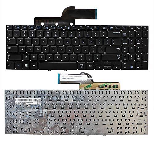 ZGQA-GQA Teclado para computadora portátil Nuevo Teclado para computadora portátil (sin Marco) Reemplazo para Samsung NP355V5C NP350E5C NP355E5C NP350V5C NP270E5G, diseño de EE. UU. Color Negro