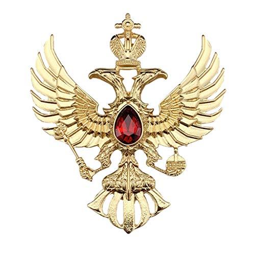 JXS Badges Militaires soviétiques, répliques de Badges d'aigle à Deux têtes Russes, Collection de Badges de chansons des Fans Militaires de la Seconde Guerre Mondiale