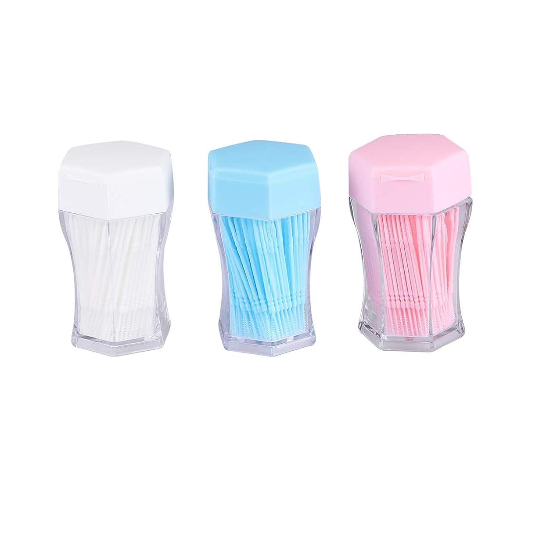 意気込み人気発掘するSUPVOX 歯間ブラシクリーナー歯磨き粉ブラシ口腔ケア用具(白、青、ピンク、各色200個)