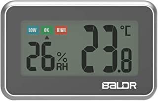 Digital Mini Indoor Thermometer Hygrometer - Fridge Thermometer with Humidity Gauge, Indoor Temperature Monitor, Magnet At...