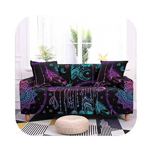 Sofa Covers -CQ84-1-1-Seater - Funda de sofá elástica, diseño étnico, salón antisal, en forma de L, sofá extensible de 1/2/3/4 plazas, 90 – 140 cm