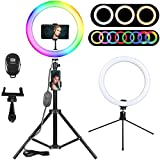 Product Image of the 10.2' RGB Selfie Ring Light, LED Ring Light with Tripod Stand & Phone Holder,...