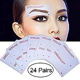 Kalolary 24 Formen Augenbrauen Schablonen, Augenbrauenschablone für Verfassung Schöne Augenbrauen Schablonen Selbstklebende Augenbraue Pflege Shaping Vorlagen Makeup Tools