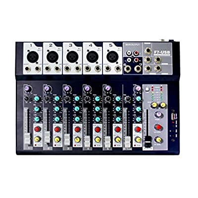 F Series 4 or 7-channel Analog Mixer with 3-band channel equalizer & USB Audio Interface (4 Channels)