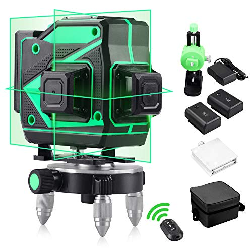 Livello laser professionale 360 autolivellante Livelli laser verdi 3D Laser a raggio a 12 linee con strumento di livellamento verticale e orizzontale