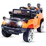 Baybee Desert Storm Toy Car Rechargeable Battery Operated Ride on car for Kids with Music/Toddlers with Remote Control Electric Motor Car Suitable Babies for Boys & Girls Age 2-5 Years (Orange)