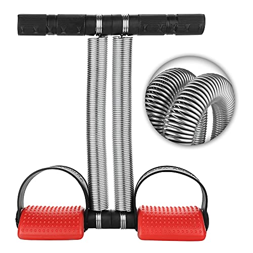 Oddish; way to fitness Double Spring Tummy Trimmer for Men & Women, Waist Fat Buster, Abs Exercise & Body Toner Equipment for Home & Gym Use. (Red and Black,Plastic)