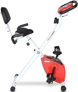 FITNESS WORLD Stainless Steel Exercise Bike, Silver