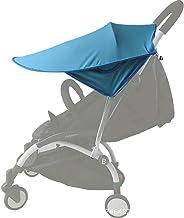 Toldo Protector Solar Universal para Cochecito de Bebé - De gran tamaño Bebé Coche Carritos de viaje Paseo Sombrilla Parasol Protección UV 50+ con Bolsillos Laterales (Azul)