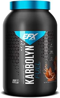 EFX Sports Karbolyn Fuel Complex Carbohydrate Post Workout & Pre Workout Powder Clinically Tested Intense Energy Supplement Shake,Chocolate Overload (4 LB 4.8 OZ)