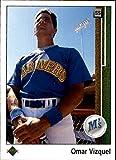 1989 Upper Deck #787 Omar Vizquel Seattle Mariners MLB Baseball Card (RC - Rookie Card) NM-MT. rookie card picture