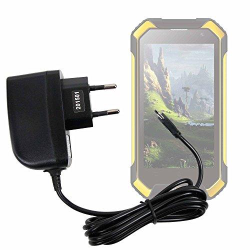DURAGADGET Cargador (2 Amperios) para Smartphone Blackview BV6000 - con Conexión Micro USB Y Enchufe Europeo De Pared - Certificado por La CE