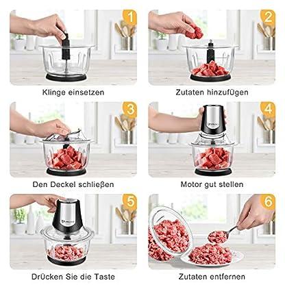 Zerkleinerer-ElektrischUniversalzerkleinerer-mit-12LGlasbehaelter-400W-Fleischwolf-Multizerkleinerer-fuer-Obst-Gemuese-Fleisch-Nuesse-Babynahrung